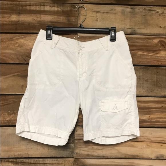 Columbia cargo shorts white size 8